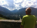 Biking up Mount Norquay - @Skivensky